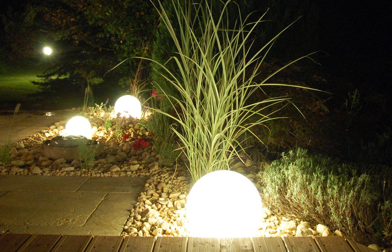 Freiraum Schmid | Gartenbeleuchtung in mediterranem Garten